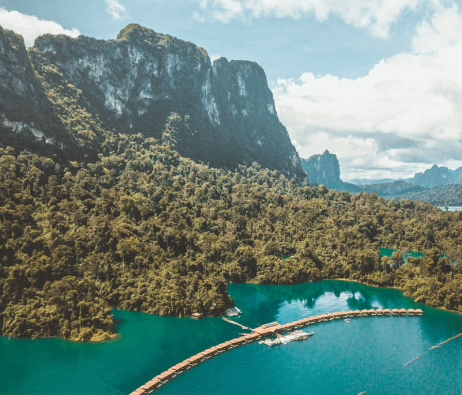 Khao Sok National Park from above
